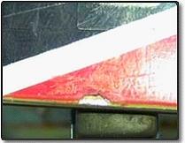 表面のカケ修理前